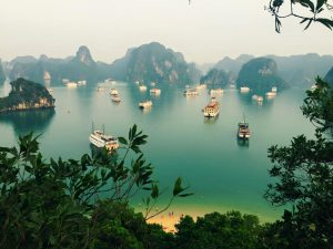 Beautiful Halong Bay in Vietnam