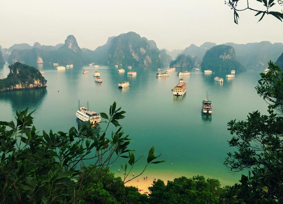 Beautiful Halong Bay in Vietnam